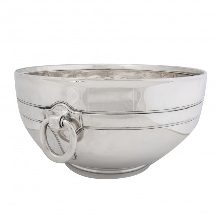 """Tiffany Center Bowl under John Moore II, c. 1920"" Sterling SIlver, 8 x 15 inches, 183.56 oz"